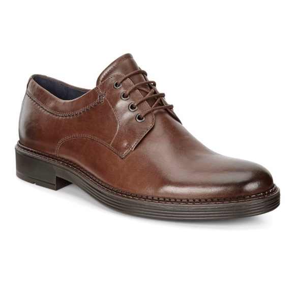 Ecco   Brown Newcastle Derby Dress Work Shoes